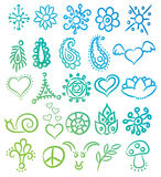 Many Ethnic Symbols And Ornates Vector Royalty Free Stock Photos