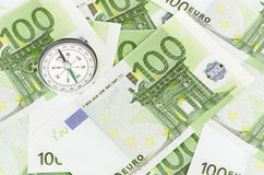 Many euro bank notes Stock Images