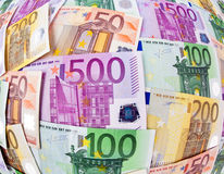 Many Euro Banknotes. Of the European Union Royalty Free Stock Photography