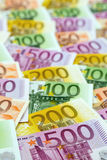 Many euro banknotes. Symbolic photo for wealth and investment Royalty Free Stock Photography