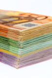 Many euro banknotes. Symbolic photo for wealth and investment Royalty Free Stock Photos
