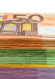 Many euro banknotes. Symbolic photo for wealth and investment Stock Images