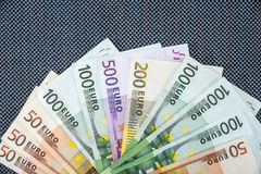 Many Euro banknotes. As  background Royalty Free Stock Photos