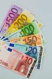Many euro banknotes Royalty Free Stock Images