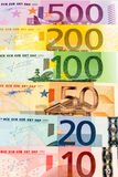 Many euro banknotes Stock Photo