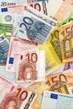 Many euro banknotes Royalty Free Stock Photo
