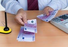 Many euro banknotes Royalty Free Stock Image