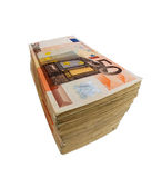 Many euro banknotes. Stack of many fifty euro banknotes. symbolic photo for money, wealth, income and expenditure Royalty Free Stock Photos