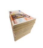Many euro banknotes. Stack of many fifty euro banknotes. symbolic photo for money, wealth, income and expenditure Royalty Free Stock Images