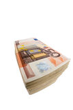 Many euro banknotes. Stack of many fifty euro banknotes. symbolic photo for money, wealth, income and expenditure Stock Photography