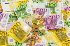 Many euro banknotes Stock Photography
