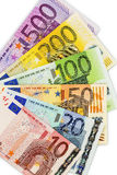 Many euro banknotes. Symbolic photo for wealth and investment Stock Photos