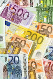 Many euro banknotes. Symbolic photo for wealth and investment Stock Image