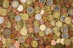 Many euro coins Royalty Free Stock Photos