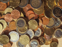 Many Euro coins Royalty Free Stock Images