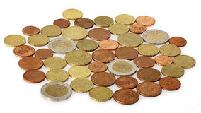 Many Euro Coins Royalty Free Stock Photos