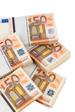Many euro notes Stock Photography