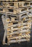Many of euro pallett in stock Stock Photo