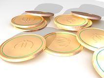 Many Euros. Illustration of Euros on the white background Stock Illustration