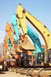 Many excavator Royalty Free Stock Photo
