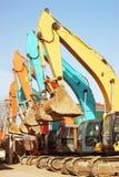 Many excavator Royalty Free Stock Photo