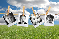Many Expressions Of A Young Toddler Child In Polar Stock Image