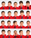 Many faces grimace businessman Royalty Free Stock Image