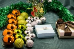 Many family Christmas gift of an object . royalty free stock photos