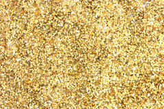 Many festive golden decoration pieces background royalty free stock photography