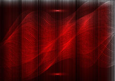 Many fine lines on a red background Royalty Free Stock Photography