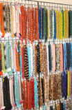 Many fine necklace for sale in the shop of jewellery and costume Stock Photography