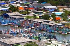 Many with fishing boat Royalty Free Stock Photos