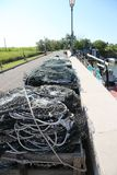 Many fishing nets used by fishermen when fishing Stock Photography