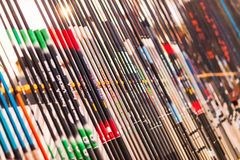Many fishing rods in store Royalty Free Stock Photography