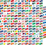 Many flag in wave shape Stock Images