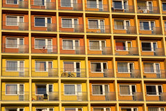 Many flats together. Flats with balcony in one big house Royalty Free Stock Images