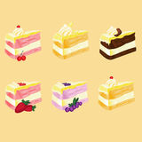 Many flavor of cake. A Many flavor of cake royalty free illustration