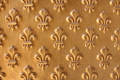 Many Fleur-de-lis. From the entrance to Napoleons Tomb at Les Invalides Stock Photo