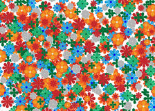 Many flower pattern Stock Photography