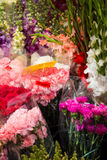 Many Flowers and Bouquets at a Market Stock Photography