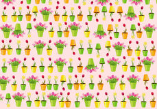 Many flowers pink background Royalty Free Stock Photography