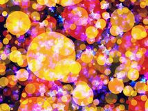 Many flying dreamy stars and bubbles backgrounds. Many flying dreamy stars and bubbles background Stock Images