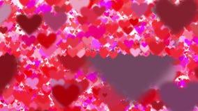 Many flying hearts on white background royalty free illustration