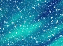 Many flying stars on a dreamy backgrounds. Many flying stars on a glowing backgrounds Royalty Free Stock Photos