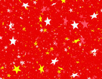 Many flying stars on red backgrounds Royalty Free Stock Image
