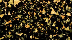 Many flying triangle backgrounds. Many abstract flying triangle backgrounds stock footage