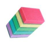 Many foam rubber  sponge Royalty Free Stock Photography