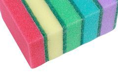 Many foam rubber  sponge Royalty Free Stock Photo