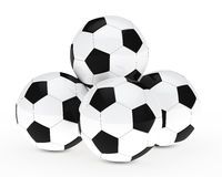 Many footballs Stock Photo