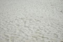 Many footprints on the beach royalty free stock photography